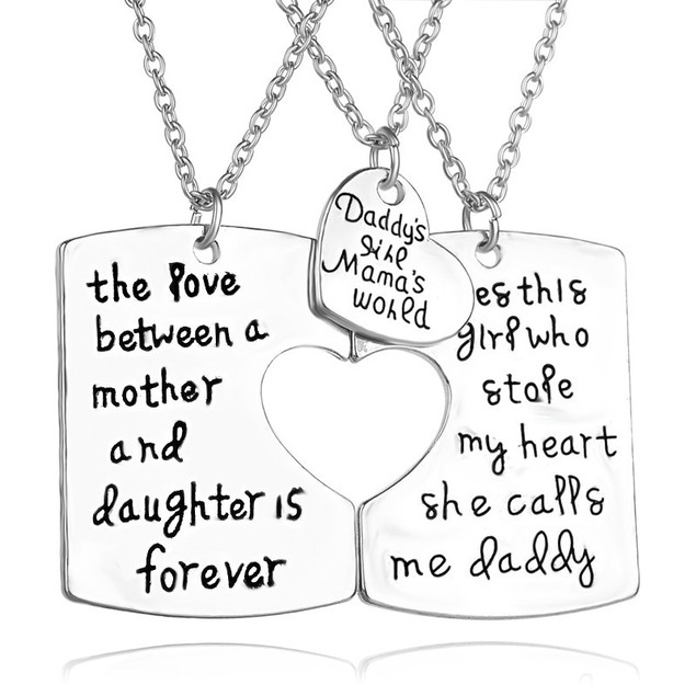 The Love Between a Mother And Daughter Is Forever Necklace Set