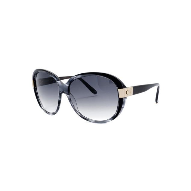 Chloe Sally Fashion Sunglasses - Gray/Horn Black