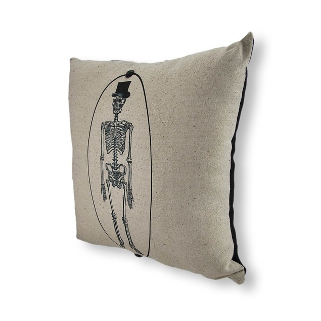 Portrait Of Mr. Bones Skeleton Mini Pillow 10 In. Throw Pillows