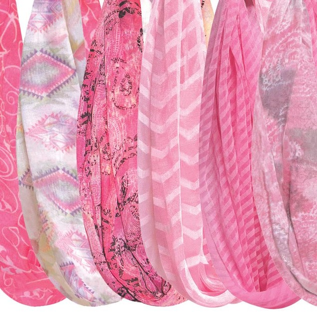 4-Pack Pink Collection Infinity Scarves