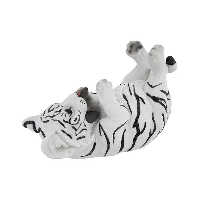 White Bengal Tiger Cub Tabletop Single Wine Bottle Tabletop Wine Racks