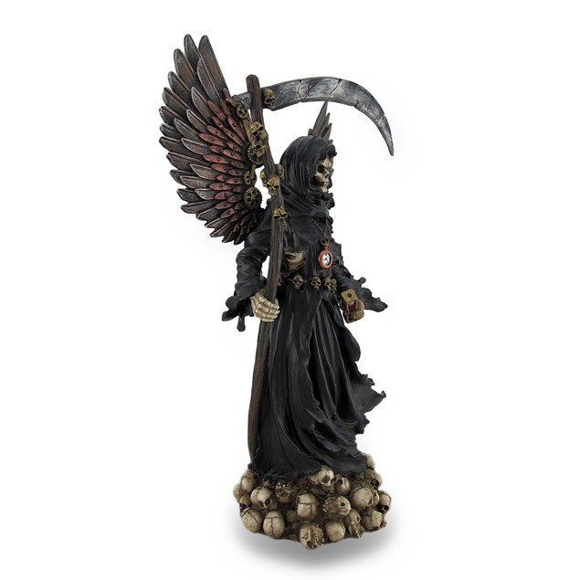 Steampunk Style Grim Reaper Statue Gear Accents Statues