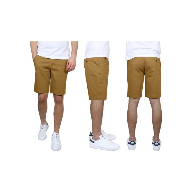 Men's 5-Pockets Flex Stretch Cotton Chino Shorts