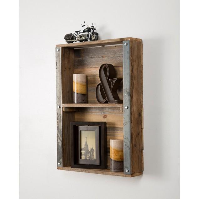 Industrial Reclaimed Wood Wall Shelf