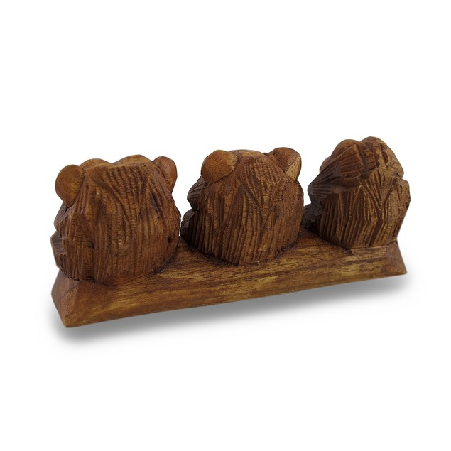 See, Hear, Speak No Evil Three Sitting Monkeys Statues