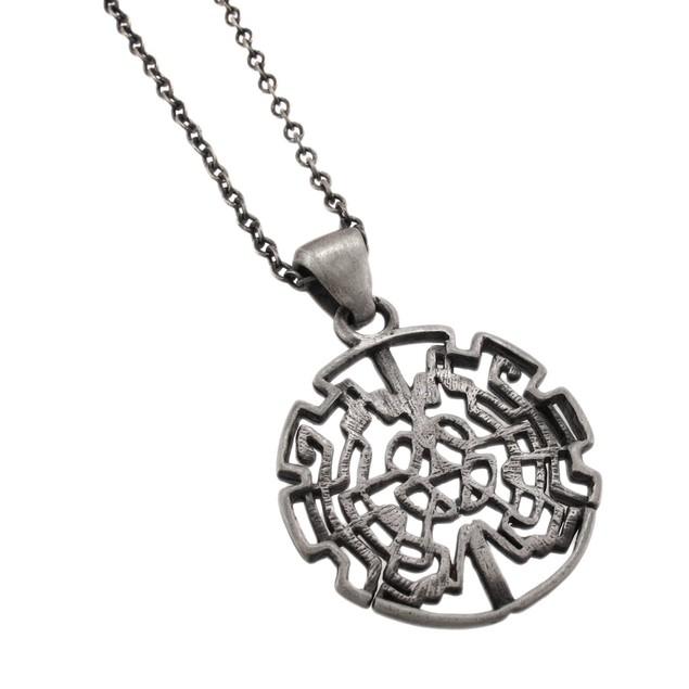 Pewter Celtic Knotwork Heart Design Pendant Mens Pendant Necklaces