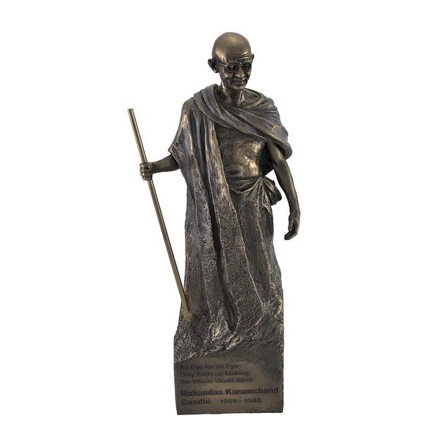 Bronzed Mohandas Mahatma Gandhi Statue Statues