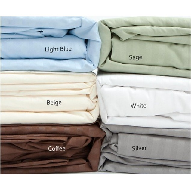 Embossed Sateen Stripe 90 GSM Sheet Set