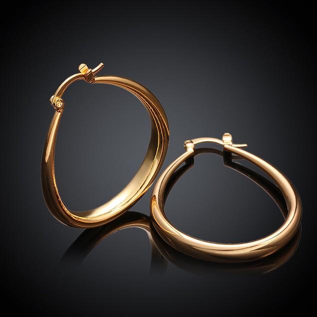 18K Gold Plated Hoop Earrings - 8 Styles