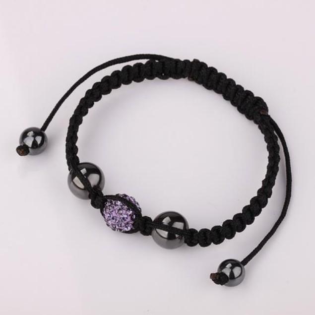 80's Glam Austrian Crystal Bracelet - Pink