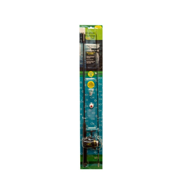 Junior Starter Fishing Set With Two-piece Rod