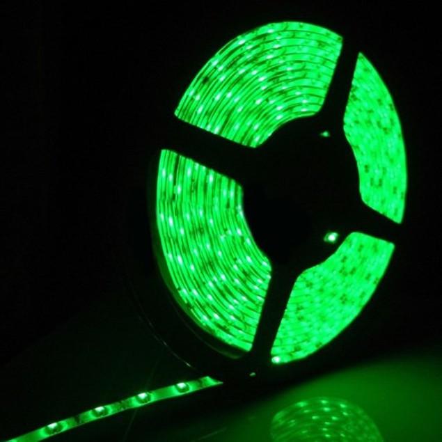 Zone Tech Waterproof Green 3528 SMD 300 LED 5M Flexible Light Strip Car 12V