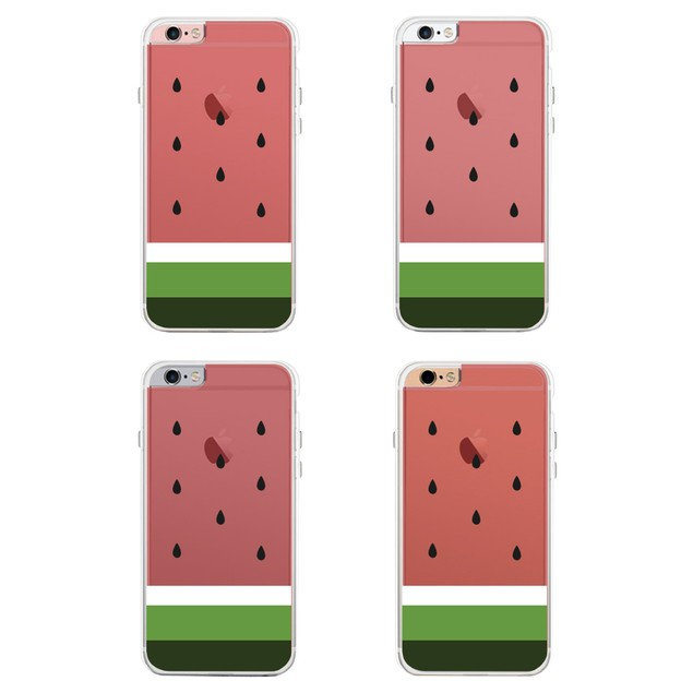 360° Full Protection Watermelon Clear iPhone Cover Cute Transparent Cases