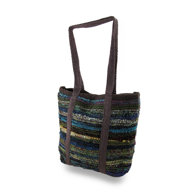 Chindi Tote Bag Multicolored Upcycled Shoulder Bag Womens Shoulder Handbags
