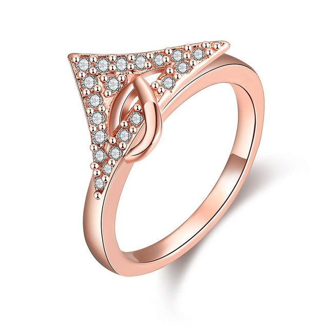 Rose Gold Plated Triangular Cut Ring