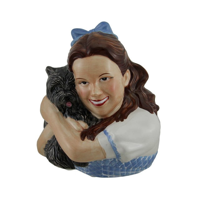 Wizard Of Oz Dorothy Holding Toto Ceramic Money Toy Banks