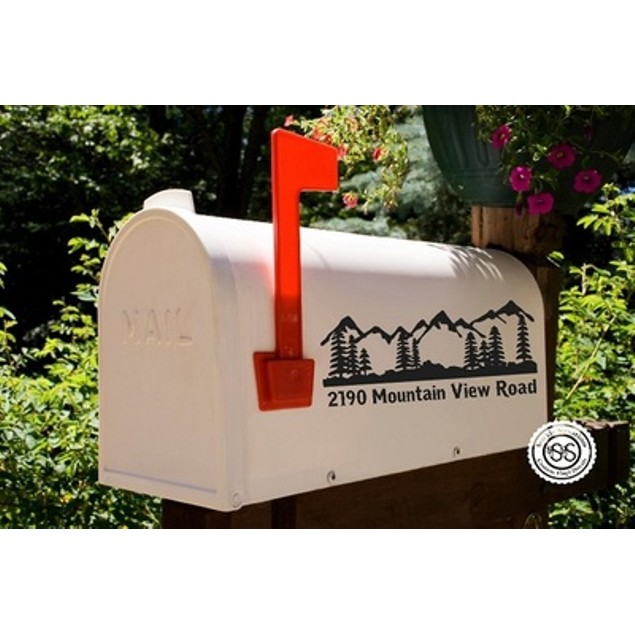 Mountain Line Vinyl Mailbox Decal