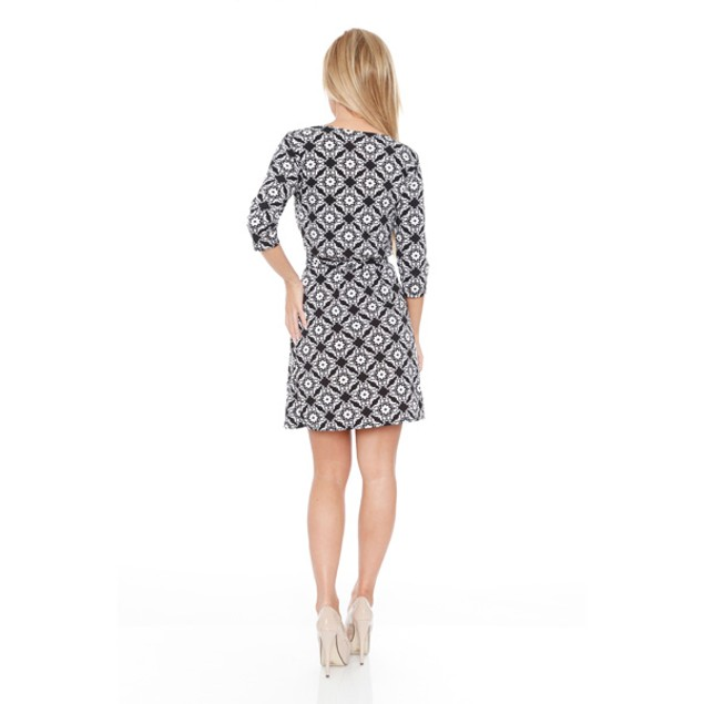 White Mark Women's 'Mariah' Wrap Dress - Arabesque