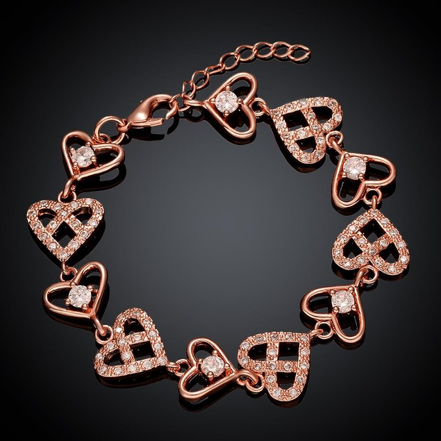 Rose Gold Plated Real Love is Everywhere Bracelet