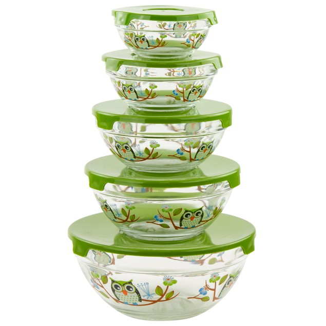 10-Piece Multi-Purpose Bowls & Snap Lids