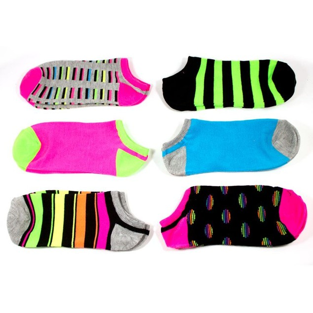 Rampage Women's No Show Socks Assorted - 6-Pack