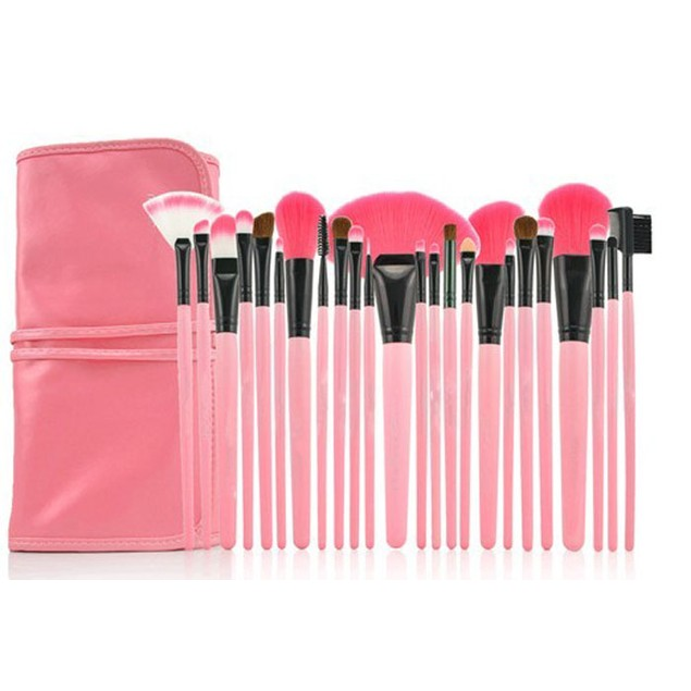 24-Piece Superior Soft Cosmetic Makeup Brush Set