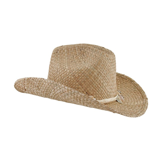 Seagrass Straw Cowboy Hat W/Seashell Band Mens Sun Hats