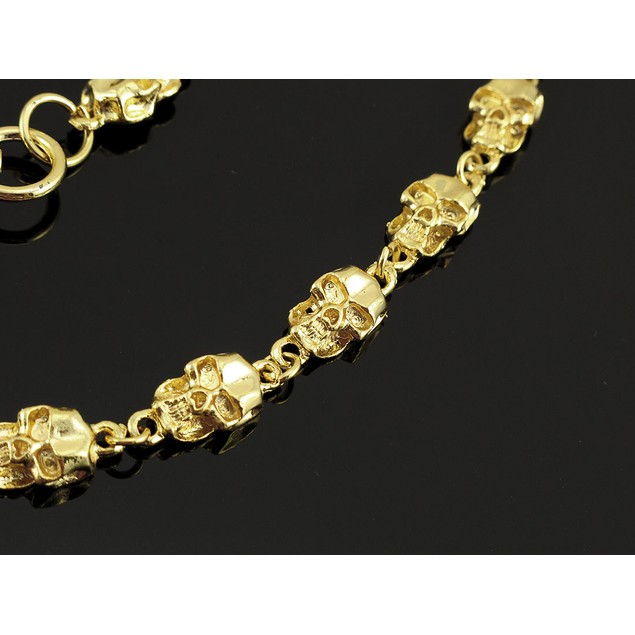 Awesome Golden Skull Link Wallet Chain Jeans Mens Wallet Chains