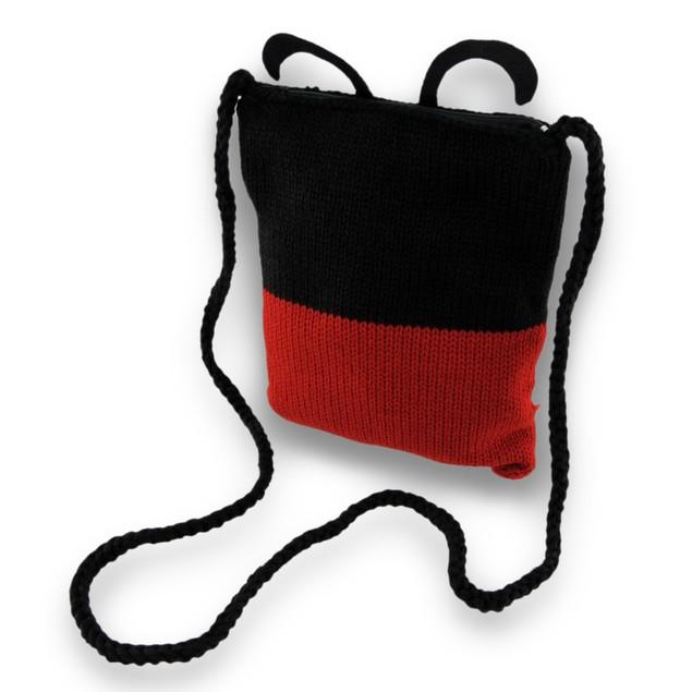 Acrylic Knit Lady Bug Cross Body Bag Womens Cross Body Bags