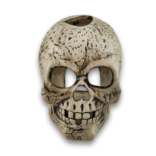 Grinning And Missing Teeth Ceramic Skull Tea Light Tea Light Holders