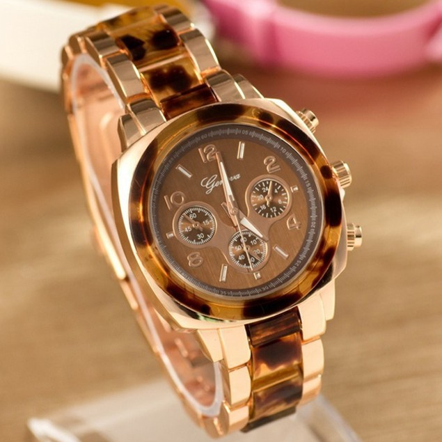 Bold Boyfriend Style Two-Tone Geneva Watch - 3 Colors