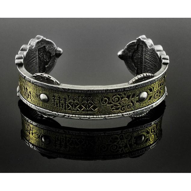 Alchemy Gothic Spectrostatic Nocturnium Pewter Mens Cuff Bracelets