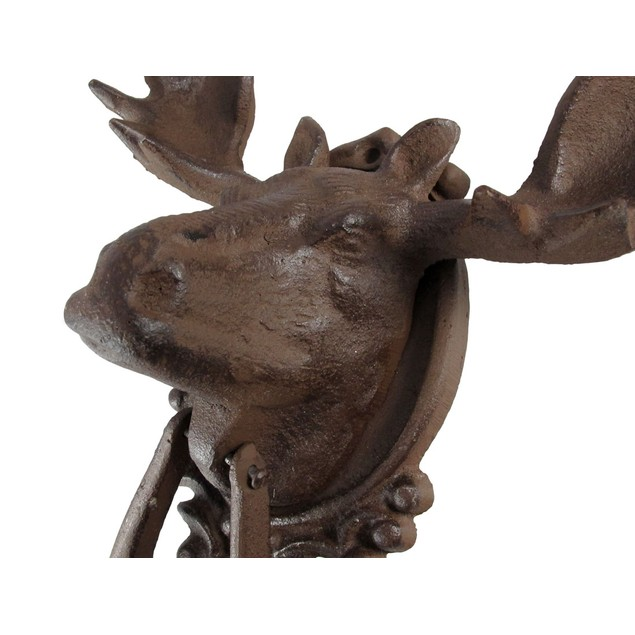 Antiqued Finish North American Moose Door Knocker Door Knockers