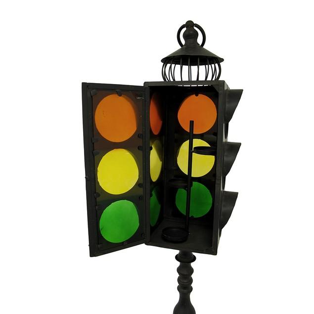 Vintage Style Traffic Light Metal Candle Lantern Decorative Candle Lanterns