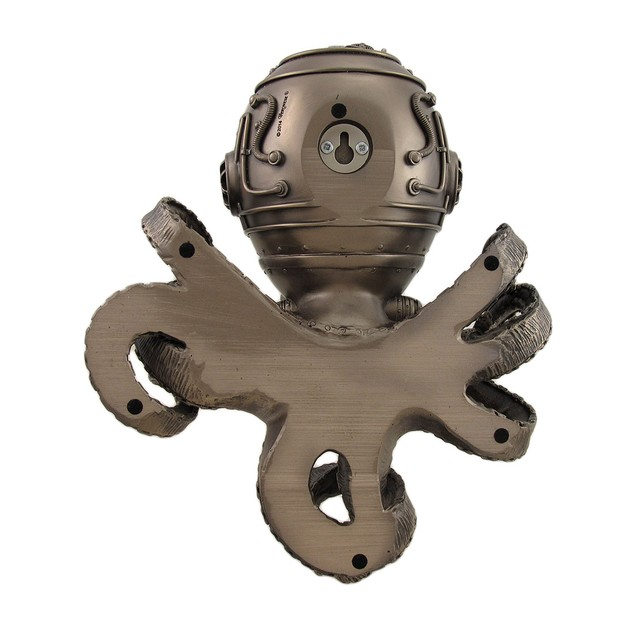 Incredibly Cool Steampunk Diver Octopus Wall Wall Sculptures