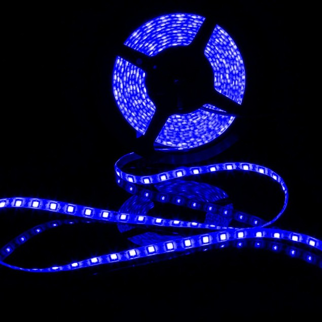 Zone Tech Waterproof Blue 3528 SMD 300 LED 5M Flexible Lamp Light Strip 12V