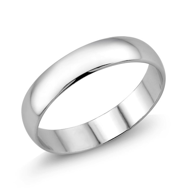 6mm High Polished Comfort Fit Wedding Band