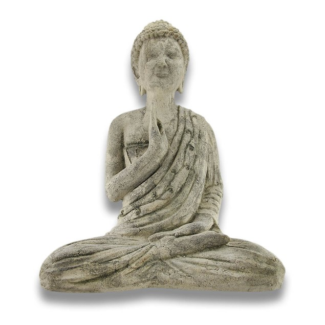 Volcanic Ash Stone Buddha Dispelling Fear Statues