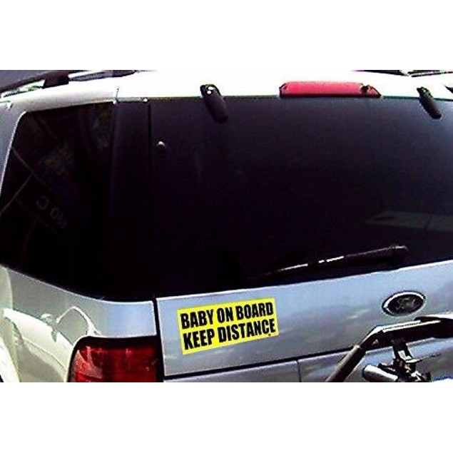 Zone Tech Baby On Board Keep Distance Car Sticker Bumper Decal  8.5x3.25""
