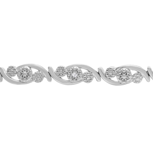 Diamond Accent Cluster Bracelet