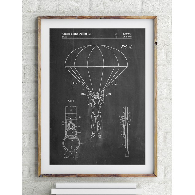 Parachute 1982 Patent Poster