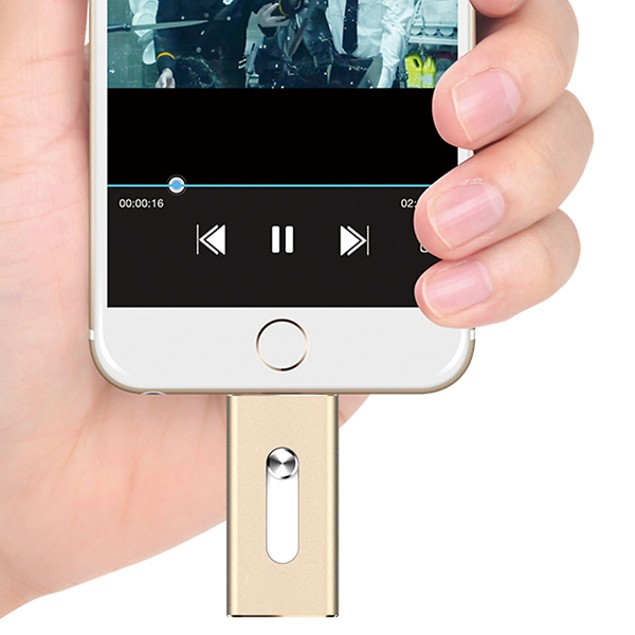 Dual USB Flash Drive for iPhones and iPads