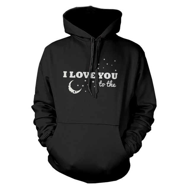 I Love You to the Moon and Back Couple Hoodies Matching Outfit for Couples