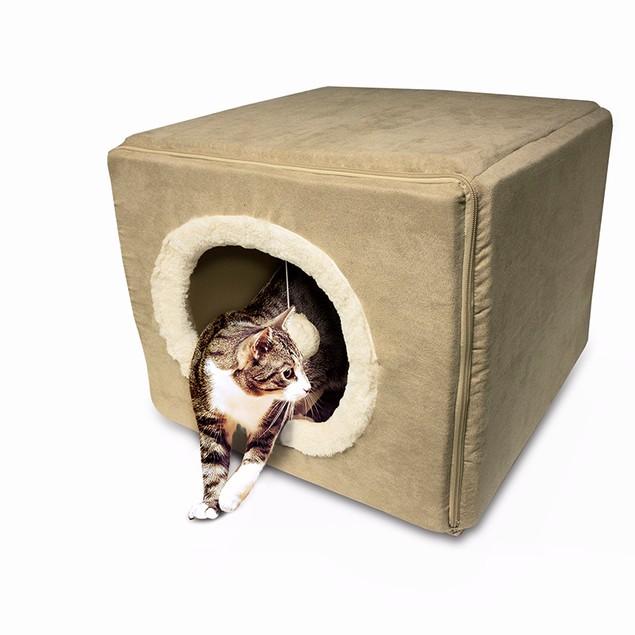 Furhaven Cozy Cube Cat Bed