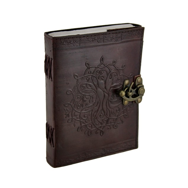 Brown Tree Of Life Leather Bound Journal 5X7 In. Art Sketchbooks And