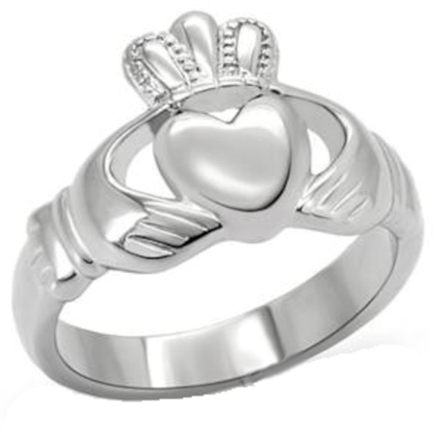 Ladies Claddagh Ring Stainless Steel Fashion Ring