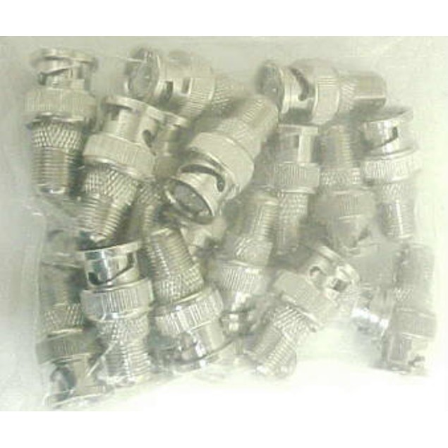 Bnc Male To Coax F Female Adapter Plugs-Lot Of 15 Bnc Video Cables