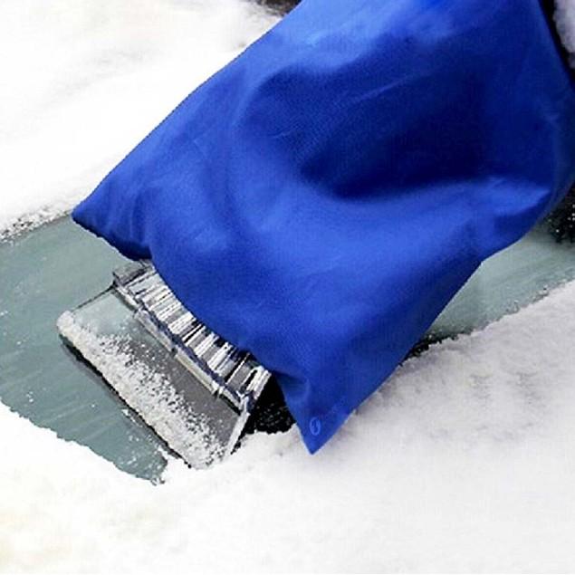 Zone Tech Waterproof Vehicle Ice Snow Scraper Mitt Glove Window Windshield