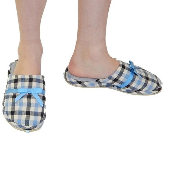 Women's Designer Plaid Slippers