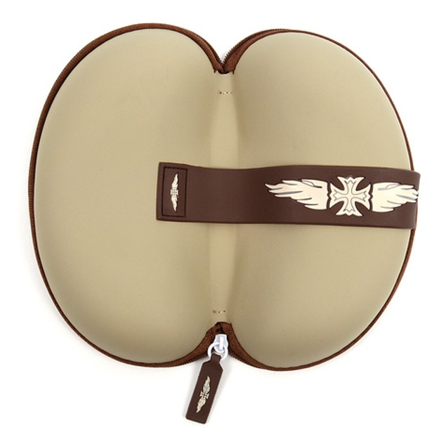Assorted Winged Iron Cross Hard Plastic Glasses Case with Zipper Enclosure